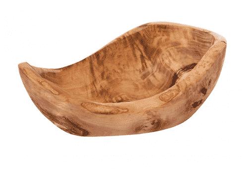 Schale aus Olivenholz - Rustikale - 14,5 x 5,5 cm