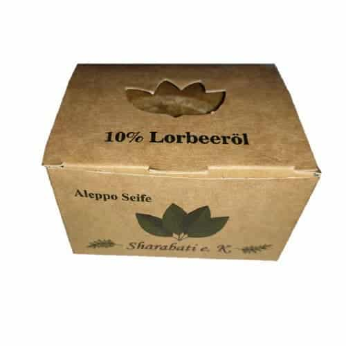 Aleppo Seife mit 10 % Lorbeeröl - Sharabati 180 g