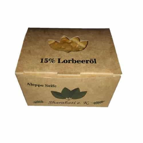 Aleppo Seife mit 15 % Lorbeeröl - Sharabati 160 g