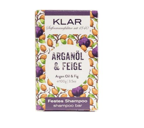 Festes Shampoo - Arganöl und Feige - KLAR 100 g