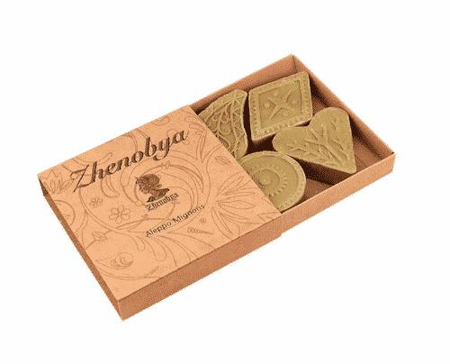 Aleppo Seife - Mignons Gästeseife - Zhenobya - 4er Box