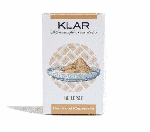 Seife mit Heilerde palmölfrei - Cosmos zertifiziert - Klar 100 g