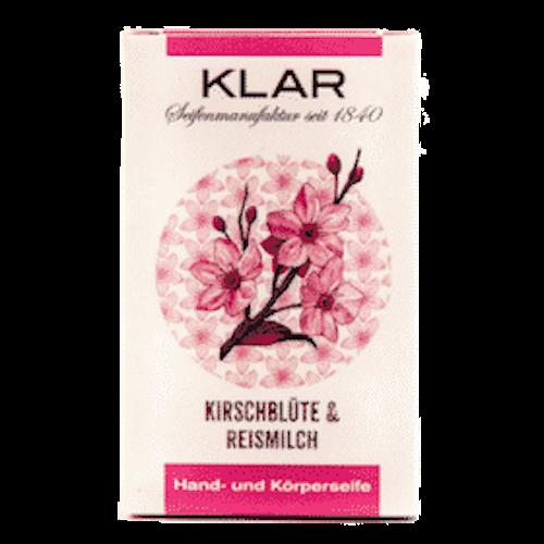 Seife mit Kirschblüte und Reismilch - ohne Palmöl - Cosmos zertifiziert - Klar 100 g