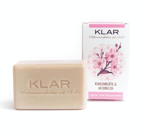 Seife mit Kirschblüte und Reismilch - ohne Palmöl - Cosmos zertifiziert 2