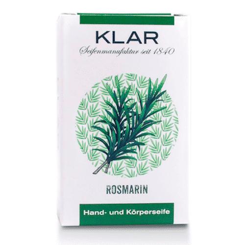 Seife mit Rosmarin palmölfrei - Cosmos zertifiziert - Klar 100 g