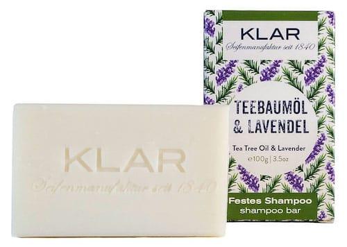 Festes Shampoo - Teebaumöl und Lavendel - KLAR 100 g