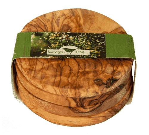 Untersetzer für Gläser aus Olivenholz - 9 x 1 cm
