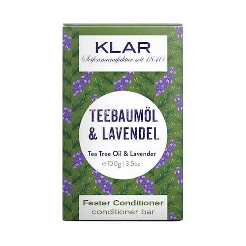 Fester Conditioner - Teebaumöl und Lavendel - KLAR 100 g