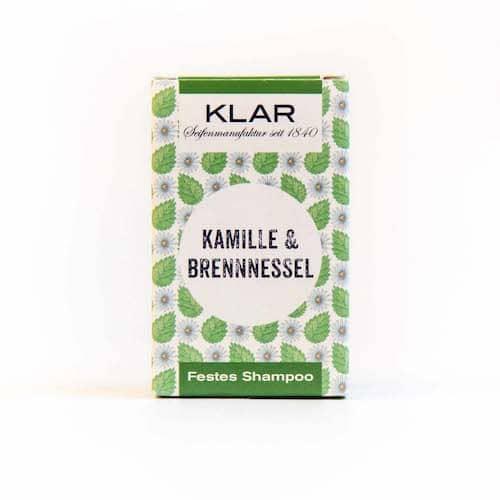 Festes Shampoo - Kamille und Brennnessel - KLAR 100 g