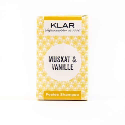 Festes Shampoo - Muskat und Vanille - KLAR