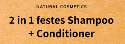 2 in 1 festes Shampoo + Conditioner