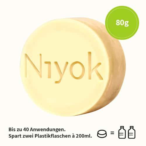 Green touch - 2 in 1 festes Shampoo + Conditioner - Niyok 80 g