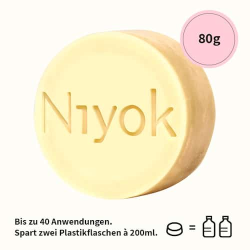 Soft blossom - 2 in 1 festes Shampoo + Conditioner - Niyok 80 g