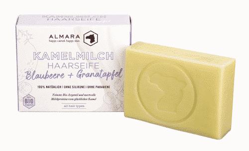 Almara Seife - Blaubeere & Granatapfel - Kamelmilch Haar- und Körperseife - Zhenobya 100 g