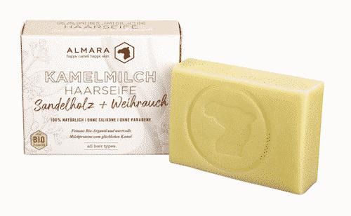 Almara Seife - Sandelholz & Weihrauch - Kamelmilch Haar- und Körperseife - Zhenobya 100 g