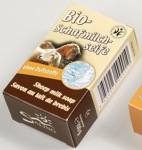 Bio Schafmilchseife ohne Duftstoffe - BDIH zertifiziert - Saling 100 g