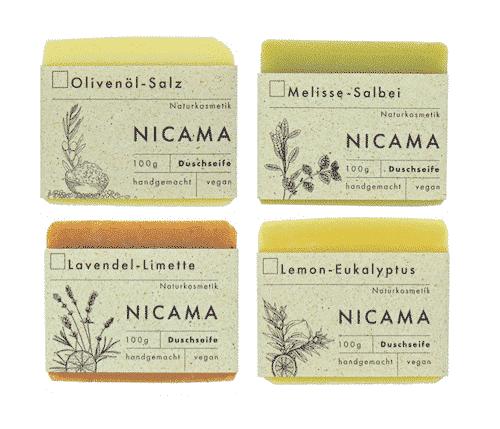 Duschseife 4er Set - NICAMA 4 x 100 g
