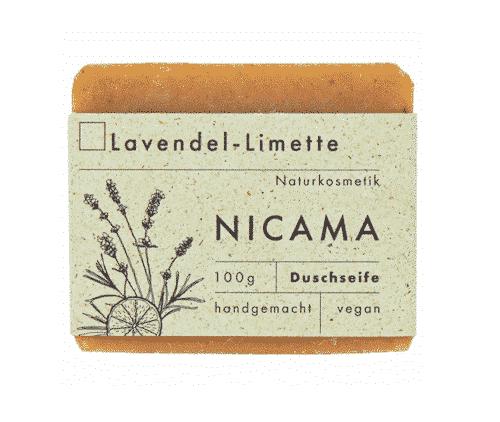 Duschseife Lavendel - Limette - NICAMA 100 g