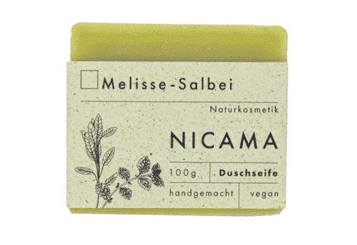 Duschseife Melisse - Salbei - NICAMA 100 g