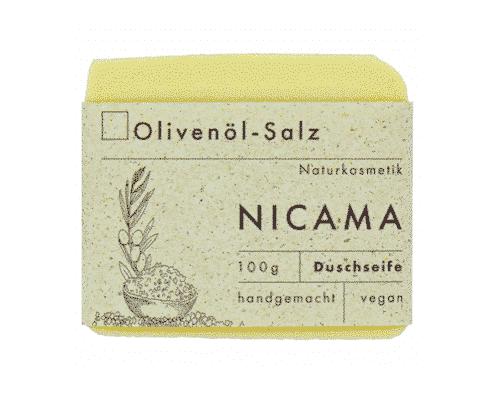 Duschseife Olivenöl - Salz - NICAMA 100 g