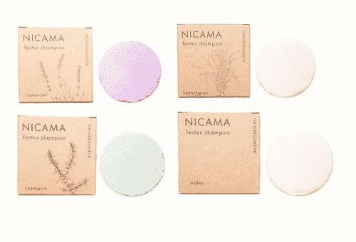 Festes Shampoo 4er Set - NICAMA 4 x 50 g