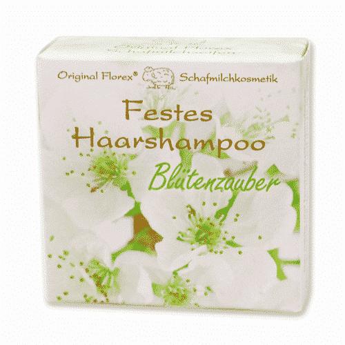 Festes Shampoo Blütenzauber - Haarshampoo mit Schafmilch - Florex 58 g