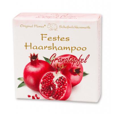 Festes Shampoo Granatapfel - Haarshampoo mit Schafmilch - Florex 58 g