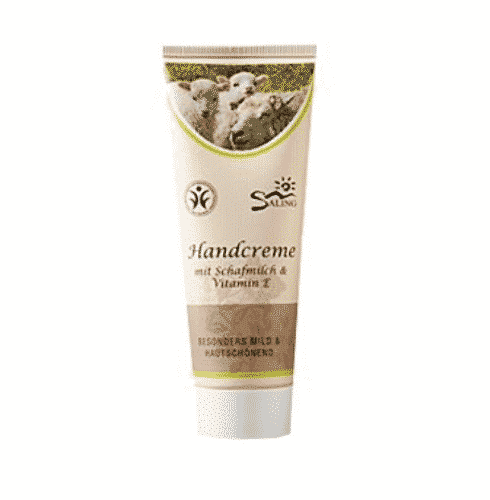 Handcreme mit Schafmilch und Vitamin E - BDIH zertifiziert - Saling 75 ml