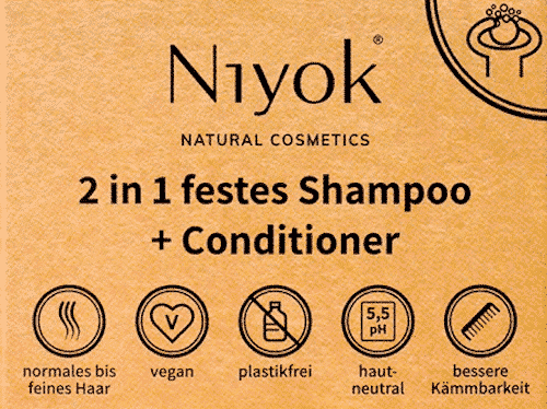 Niyok 2 in 1 festes Shampoo + Conditioner
