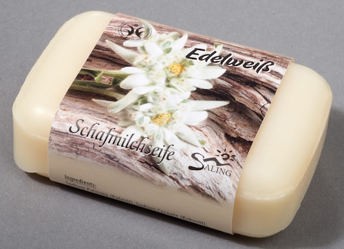 Saling Schafmilchseife Edelweiß - BDIH zertifiziert - 100 g