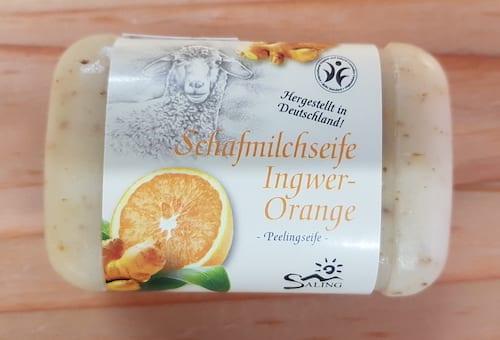 Schafmilchseife Ingwer - Orange - BDIH zertifiziert - Saling 100 g