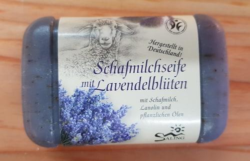 Schafmilchseife Lavendelblüten - BDIH zertifiziert - Saling 100 g