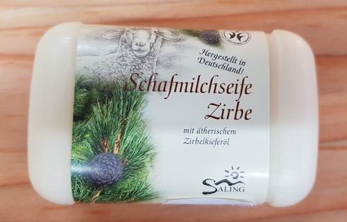 Schafmilchseife mit Zirbe - BDIH zertifiziert - Saling 100 g