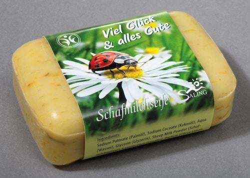 """Seife mit Schafmilch und Ringelblume """"Viel Glück und alles Gute""""- BDIH zertifiziert"""