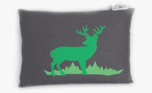 Zirbenkissen Hirsch - anthrazit - grün - Tiroler Zirbenkissen - 30 cm x 20 cm