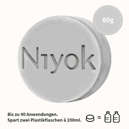 Athletic grey - 4 in 1 feste Dusche - Körper + Haare + Gesicht + Bart - Niyok 80 g