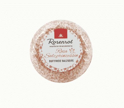Bioseife Rosa Salzprinzessin - ohne Duft - Rosenrot 100 g
