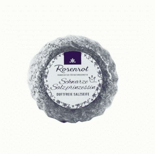 Bioseife Schwarze Salzprinzessin - ohne Duft - Rosenrot 70 g