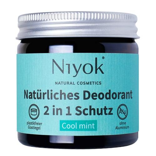 Cool mint - 2 in 1 anti-transpirante Deocreme - Niyok 40 ml
