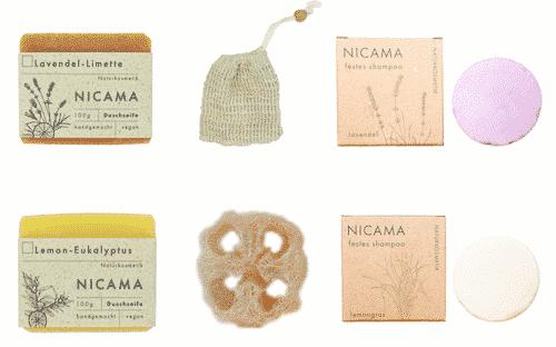 Duschen - Set - Plastikfrei für Körper und Haar - NICAMA