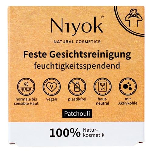 Feste Gesichtsreinigung - Patchouli - Niyok 80 g