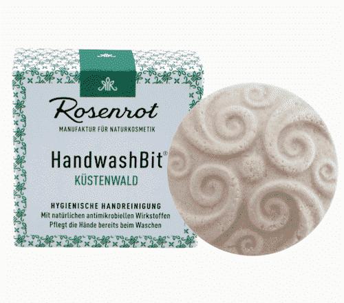 Feste Waschlotion Küstenwald - HandwashBit - Rosenrot 60 g