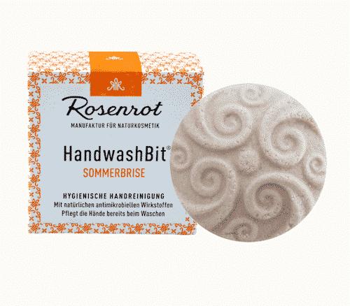 Feste Waschlotion Sommerbrise - HandwashBit - Rosenrot 60 g