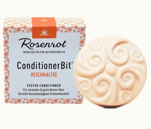 Fester Conditioner REICHHALTIG - ConditionerBit - Rosenrot 60 g