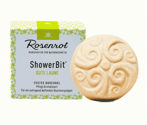 Festes Duschgel Gute Laune - ShowerBit - Rosenrot 60 g