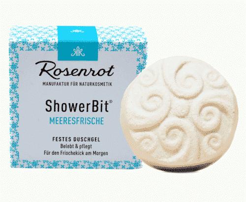 Festes Duschgel Meeresfrische - ShowerBit - Rosenrot 60 g