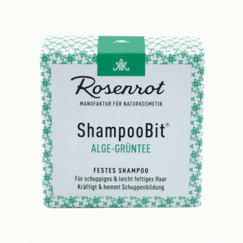 Festes Shampoo Alge-Grüntee - ShampooBit - Rosenrot 2