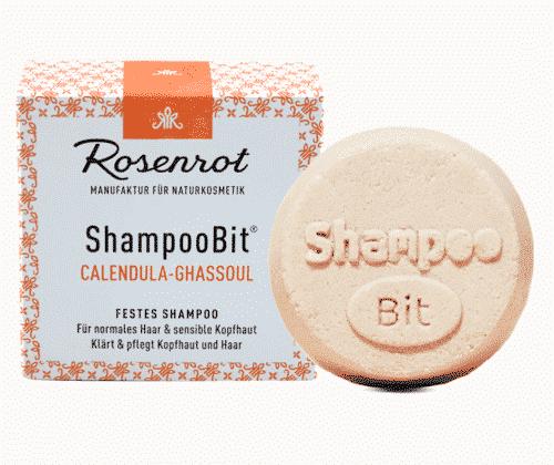 Festes Shampoo Calendula-Ghassoul - ShampooBit - Rosenrot 55 g