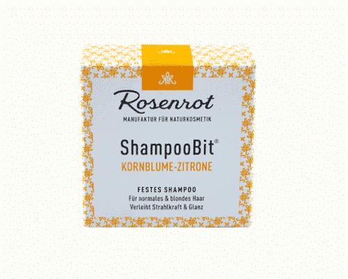 Festes Shampoo Kornblume-Zitrone - ShampooBit - Rosenrot 55 g 2