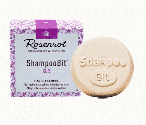 Festes Shampoo Kur - ShampooBit - Rosenrot 55 g